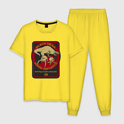 Пижама хлопковая мужская HALF-LIFE цвета желтый — фото 1