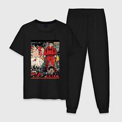 Пижама хлопковая мужская AKIRA цвета черный — фото 1