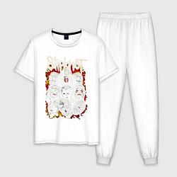 Пижама хлопковая мужская Slipknot цвета белый — фото 1