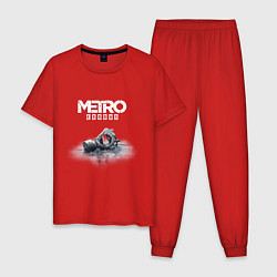 Пижама хлопковая мужская METRO EXODUS цвета красный — фото 1