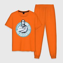 Пижама хлопковая мужская Leonard Hofstadter цвета оранжевый — фото 1