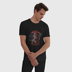 Мужская хлопковая пижама с принтом Гарри Поттер, цвет: черный, артикул: 10218567505937 — фото 2