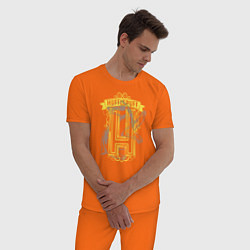 Пижама хлопковая мужская Гарри Поттер цвета оранжевый — фото 2