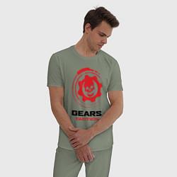 Пижама хлопковая мужская GEARS TACTICS цвета авокадо — фото 2