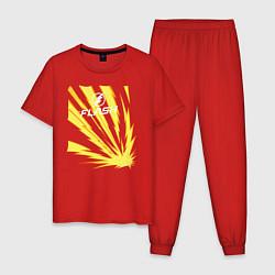 Пижама хлопковая мужская The Flash цвета красный — фото 1