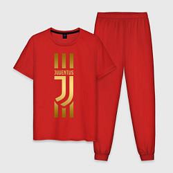 Пижама хлопковая мужская JUVENTUS цвета красный — фото 1