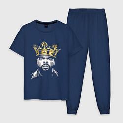Пижама хлопковая мужская Ice Cube King цвета тёмно-синий — фото 1