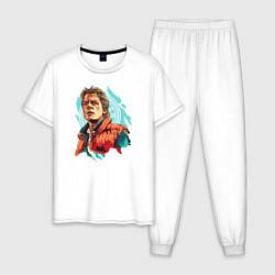 Пижама хлопковая мужская Marty MCFLY цвета белый — фото 1