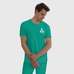 Пижама хлопковая мужская MITSUBISHI цвета зеленый — фото 2
