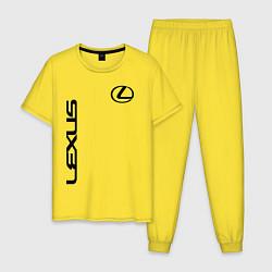 Пижама хлопковая мужская LEXUS цвета желтый — фото 1