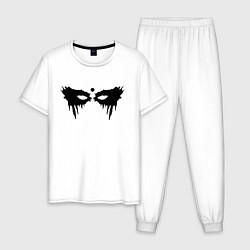 Пижама хлопковая мужская Сотня цвета белый — фото 1