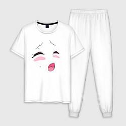 Пижама хлопковая мужская Ахэгао цвета белый — фото 1