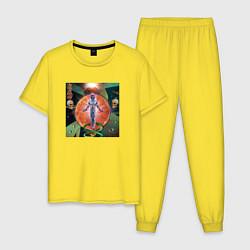 Пижама хлопковая мужская GONE Fludd VOODOO CHILD цвета желтый — фото 1