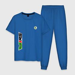 Пижама хлопковая мужская Skoda RS Z цвета синий — фото 1