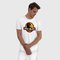 Пижама хлопковая мужская PAC-MAN цвета белый — фото 2