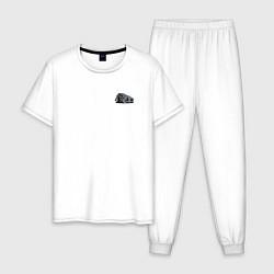 Пижама хлопковая мужская HOT ROD, Классика, Авто цвета белый — фото 1