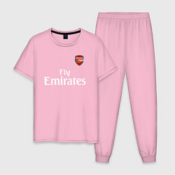 Пижама хлопковая мужская ARSENAL цвета светло-розовый — фото 1