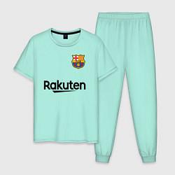 Пижама хлопковая мужская BARCELONA цвета мятный — фото 1
