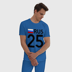 Пижама хлопковая мужская RUS 25 цвета синий — фото 2
