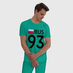 Пижама хлопковая мужская RUS 93 цвета зеленый — фото 2