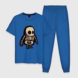 Пижама хлопковая мужская Fall Guys цвета синий — фото 1
