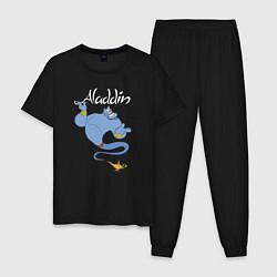 Пижама хлопковая мужская Джинн цвета черный — фото 1