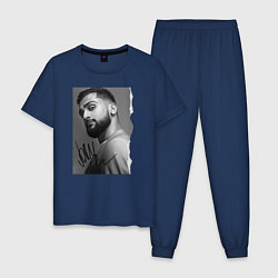 Пижама хлопковая мужская Jony цвета тёмно-синий — фото 1