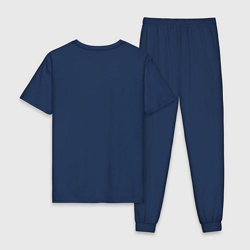 Мужская пижама Deadpool logo / Тёмно-синий – фото 2