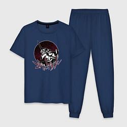 Пижама хлопковая мужская Evangelion цвета тёмно-синий — фото 1