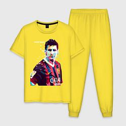 Пижама хлопковая мужская Barcelona FC цвета желтый — фото 1