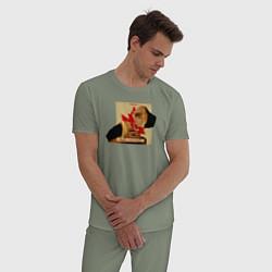 Пижама хлопковая мужская Макс Барских: Вспоминать цвета авокадо — фото 2