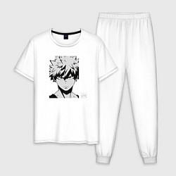 Пижама хлопковая мужская Katsuki Bakugou цвета белый — фото 1