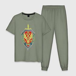 Пижама хлопковая мужская ФСБ цвета авокадо — фото 1
