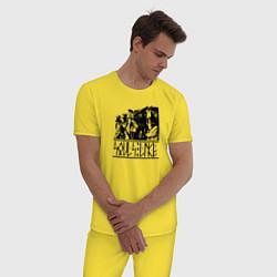 Пижама хлопковая мужская Souls-like цвета желтый — фото 2