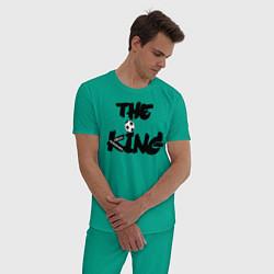 Пижама хлопковая мужская Диего Марадона цвета зеленый — фото 2