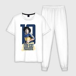 Пижама хлопковая мужская 10 number цвета белый — фото 1