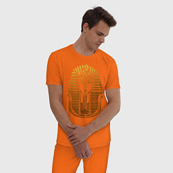 Пижама хлопковая мужская Тутанхамон цвета оранжевый — фото 2