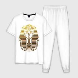 Пижама хлопковая мужская Тутанхамон цвета белый — фото 1