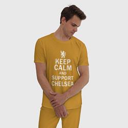 Пижама хлопковая мужская K C a support Chelsea цвета горчичный — фото 2