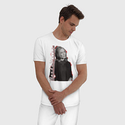 Пижама хлопковая мужская Wanda цвета белый — фото 2