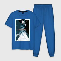 Пижама хлопковая мужская Призрак в доспехах цвета синий — фото 1