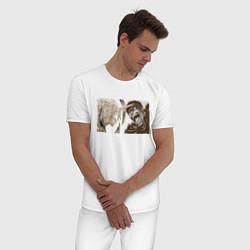 Пижама хлопковая мужская Берсерк цвета белый — фото 2