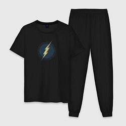 Пижама хлопковая мужская Flash цвета черный — фото 1