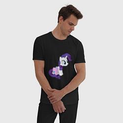 Пижама хлопковая мужская Rarity and Saddlebags цвета черный — фото 2
