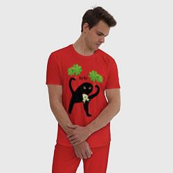 Пижама хлопковая мужская Ирландец ЪУЪ! цвета красный — фото 2