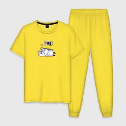 Пижама хлопковая мужская Хомячок цвета желтый — фото 1