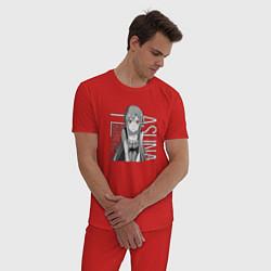 Пижама хлопковая мужская Асуна Юки цвета красный — фото 2