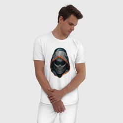 Пижама хлопковая мужская Taskmaster цвета белый — фото 2