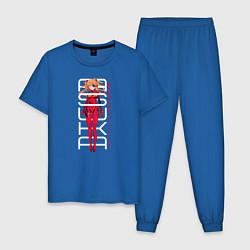 Пижама хлопковая мужская Asuka цвета синий — фото 1