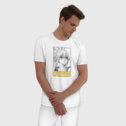 Пижама хлопковая мужская Kohaku Dr Stone цвета белый — фото 2